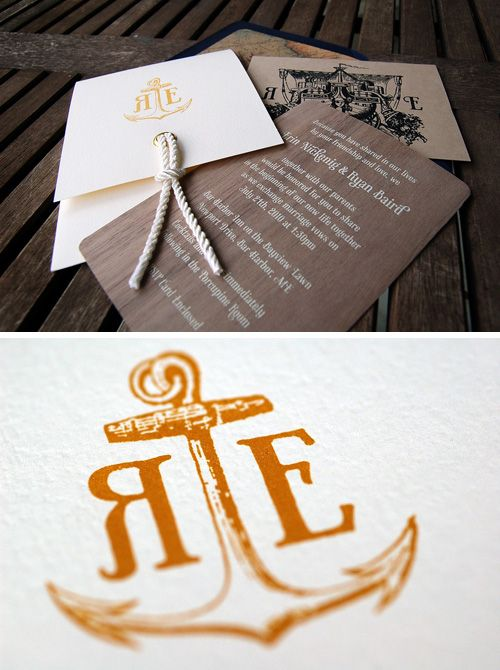 Nautical Wedding Invites! I'm going to base my wedding invitations off of these