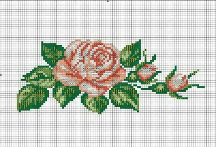 #crossstitch #kanaviçe #gül #rose