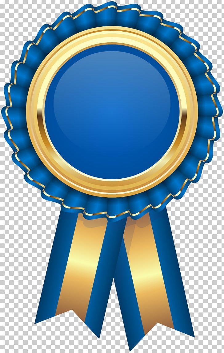 Rosette Ribbon Award Png Award Circle Cobalt Blue Color Electric Blue Clip Art Art Images Ribbon Png