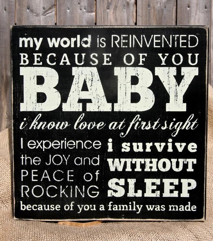 Baby Wood Box Sign by Gypseanurse on Etsy