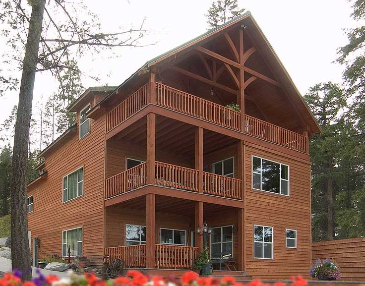 Custom Chalet Style Modular Homes Two Stories With A Walk Out