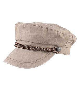 DreiMaster - îmbrăcăminte pentru Ea și El - Șapcă din bumbac în bej