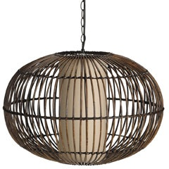 Bamboo Hanging Rattan Lamp From Pier 1