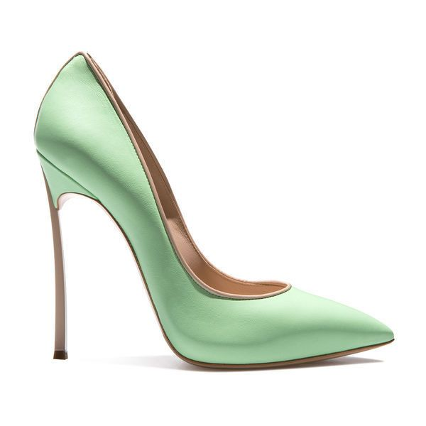 blade ($640) ❤ liked on Polyvore featuring shoes, pumps, heels, heel pump, tan pumps, mint pumps, mint heel shoes and mint shoes