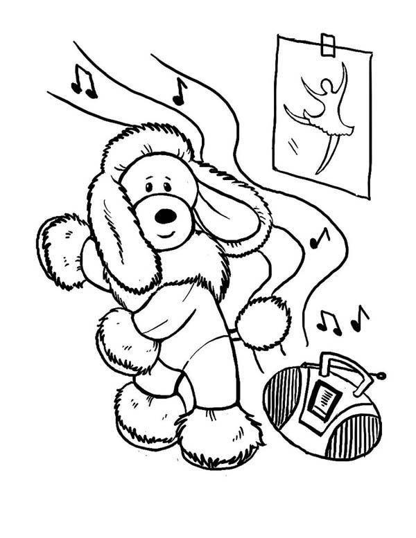 Poodle Coloring Pages Dance Coloring Pages Disney Princess