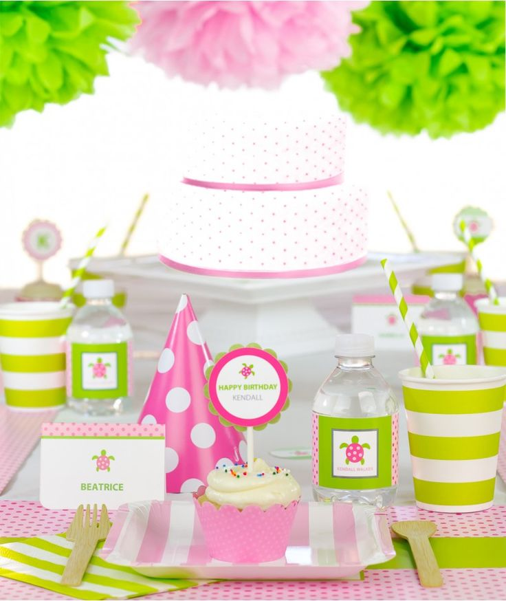 Pink Sea Turtle Birthday Party in a Box