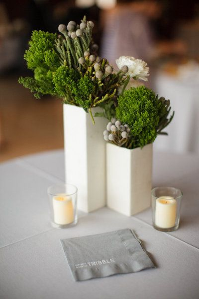 modern green florals | Photography by ArchetypeStudioInc.com |  Floral Design by floralevents.com |   Read more - http://www.stylemepretty.com/2013/07/11/houston-wedding-from-archetype-studio-inc/