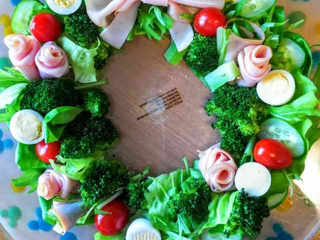 X'mas☆子供も喜ぶ簡単リースサラダ の画像