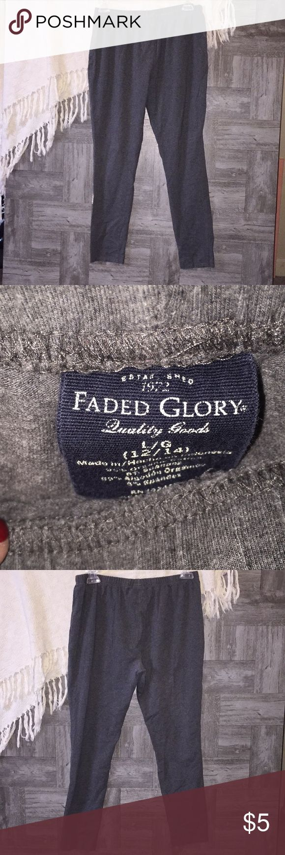 Faded Glory Leggings Gray leggings.  : 78 Faded Glory Pants Leggings