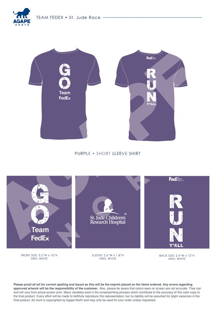 Agape North: Custom Apparel that Gives Back. #FedEx #stjude #running