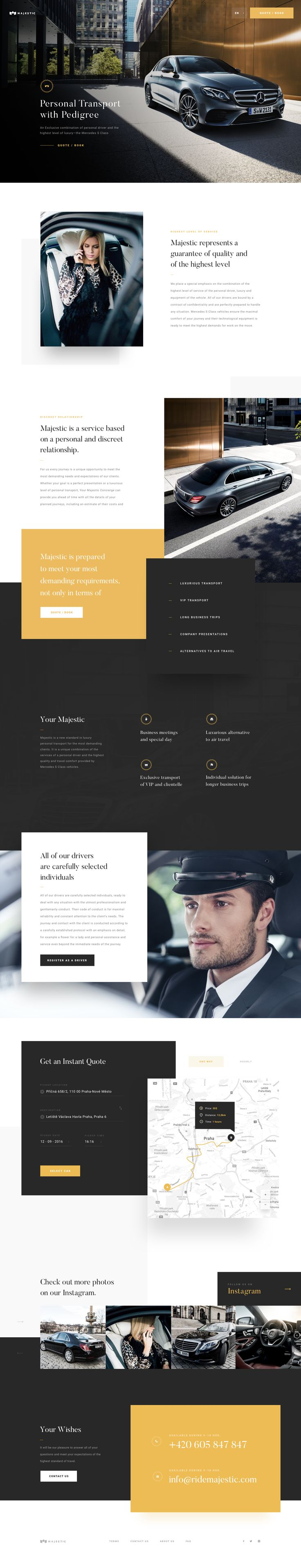 Ridemajestic – Ui design concept for official marketplace, by Martin Strba.