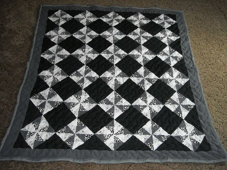 71 best black white quilts or gray images on pinterest for Black white and gray quilt patterns