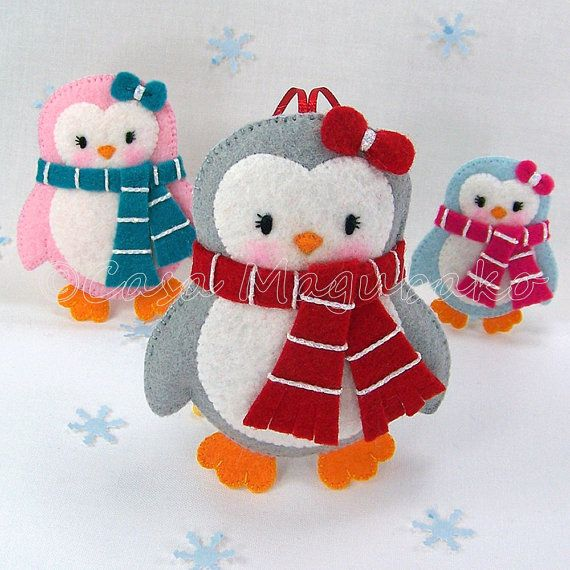 Felt Penguin Tutorial DIY Embellishment or by CasaMagubako, $6.45