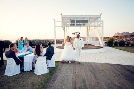 The charming white pavillion at luxury villa wedding in Crete. Moments www.weddingincrete.com