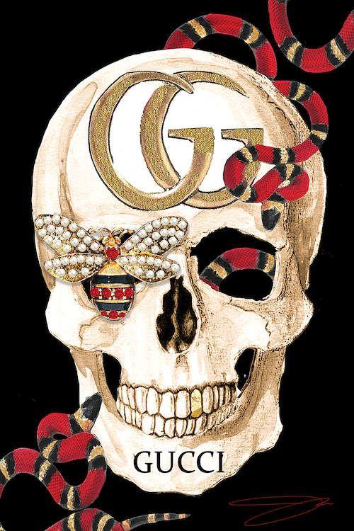 Gucci Skull Ii Canvas Art Print By Studio One In 2019