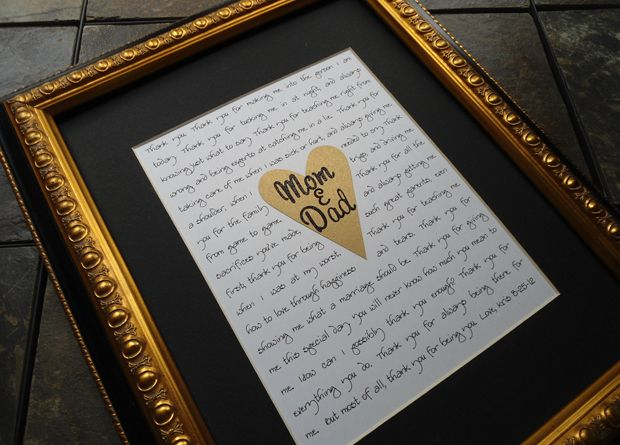 Personalised Mam & Dad print - wedding gifts for parents