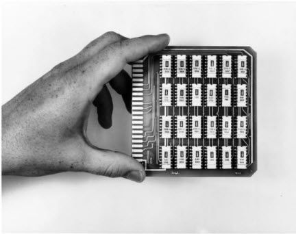 Intel's first product, the 3101 Schottky bipolar random access memory - RAM. (1969)