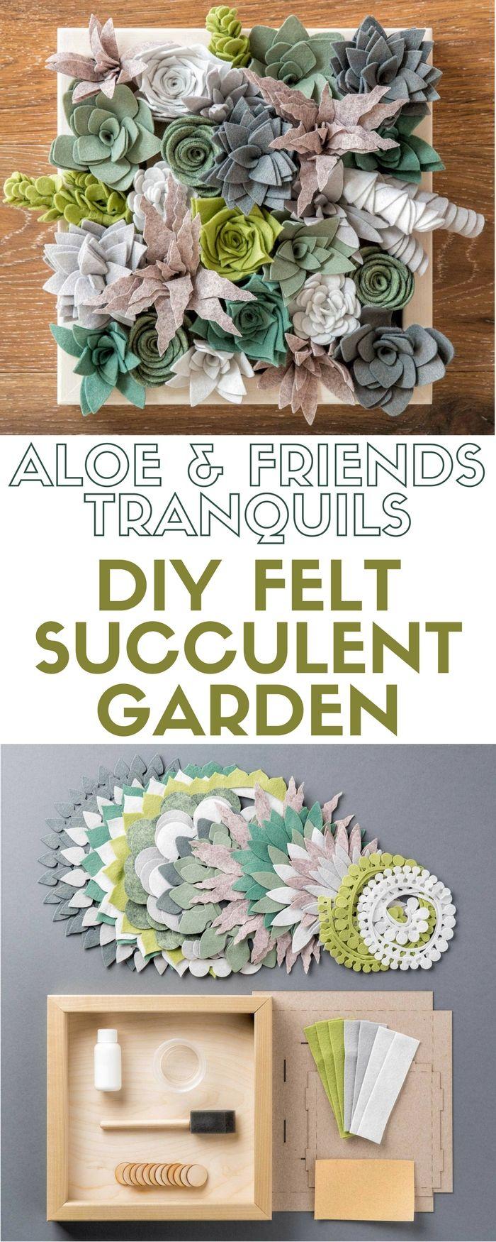 Aloe & Friends - Tranquils | DIY Felt Succulent Garden | Craft Kit | Succulents | Felt | Indoor