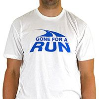 Mens Lifestyle Runners Tee Gone For A Run Logo (Blue) - Gone for a RUNs T-shirts exemplify your passion for running! Rugged 100% cotton t-shirts are built for comfort and to last.