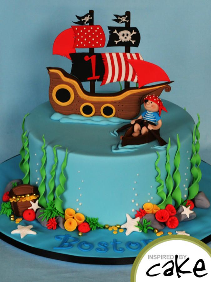 1st Bithday Pirate -  For all your Pirate cake decorating supplies, please visit http://www.craftcompany.co.uk/occasions/party-themes/pirate-party.html