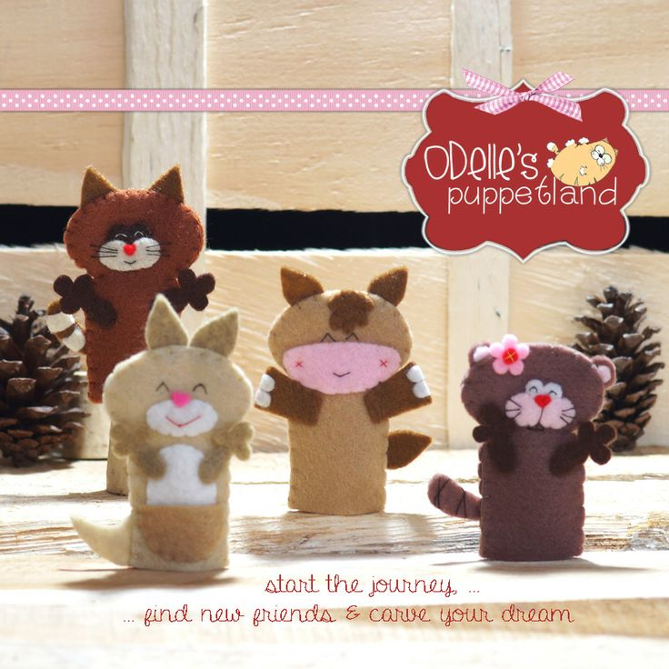 howie the horse, arro the kangarooe, rac the racoon, and beev the beever are 4 of the 50 cute characters in odelle's puppetland. Each character here, is available for the finger puppet, pencil puppet  mini puppet. Get them for only rp7.000/each. Contact me: sms/wa : 0896 420 97 266 ping me! 7448EE1E  #fingerpuppet # puppet #odellespuppetland #handmade #craft  #felt  #boneka jari #racoon #kongaroo #horse #beaver #baby #kids #edutoys#handmade #felt #craft #odellespuppetland