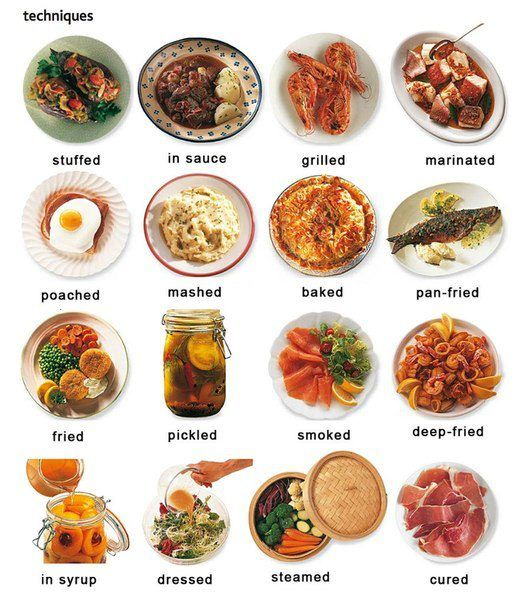 English vocabulary - food and cooking. Follow me to other food pins.