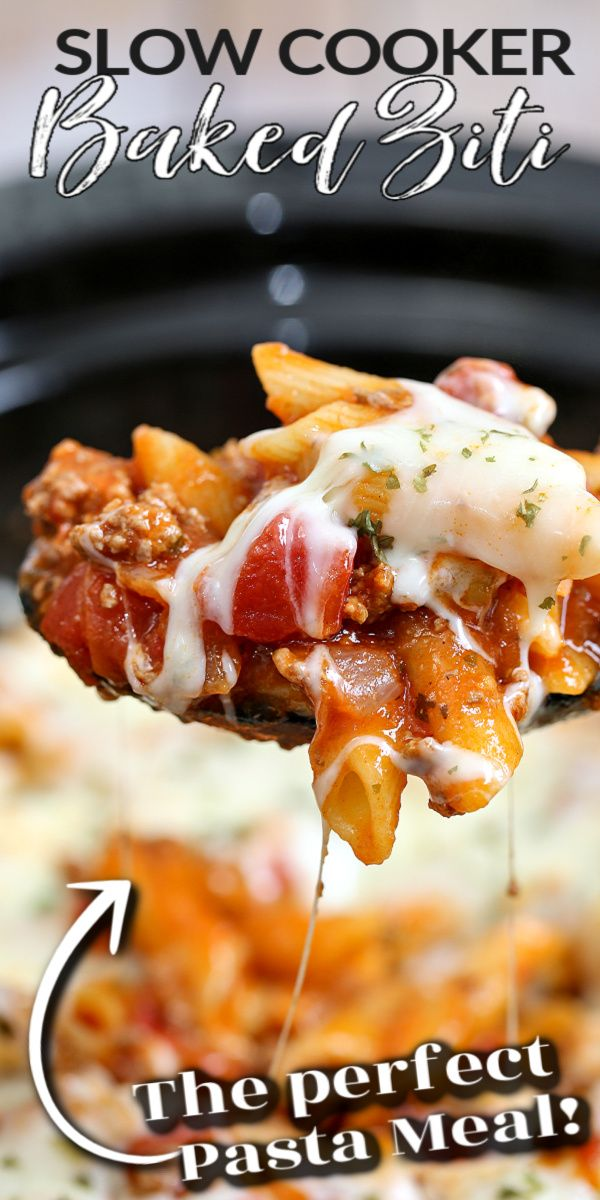 Jun 13, 2020 – This SLOW COOKER BAKED ZITI is an easy crockpot recipe that packs all the flavour! With tender noodles co…