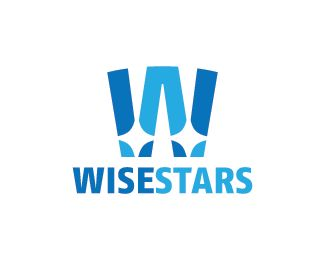 Wise Stars Logo design - Logo design of the letter W with stars inside it.  Price $250.00