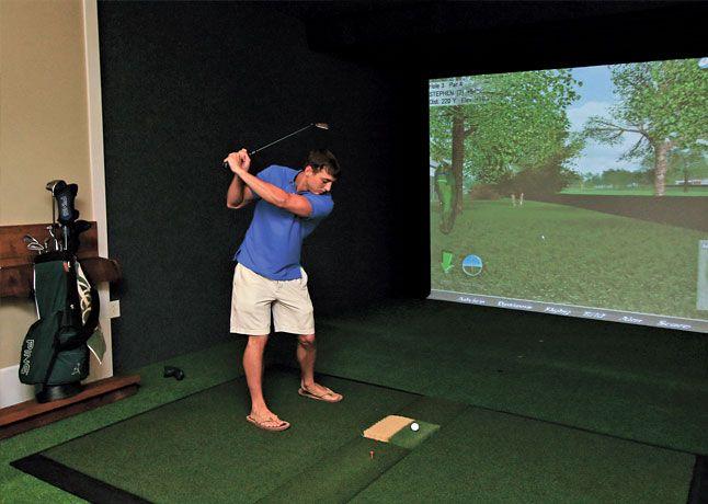 GOLF SIMULATOR: The Retreatu0027s Indoor, Virtual Golf Simulator Featuring Real  PGA Tour® Courses