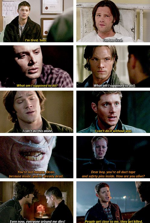 [gifset] Winchester brother parallels #SPN #Dean #Sam