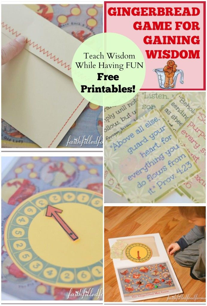 Gingerbread Man Game for Gaining Wisdom FREE printables!