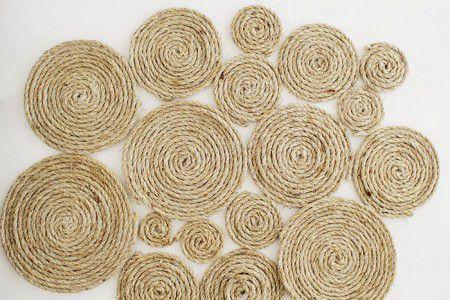 como hacer una alfombra con hilo sisal