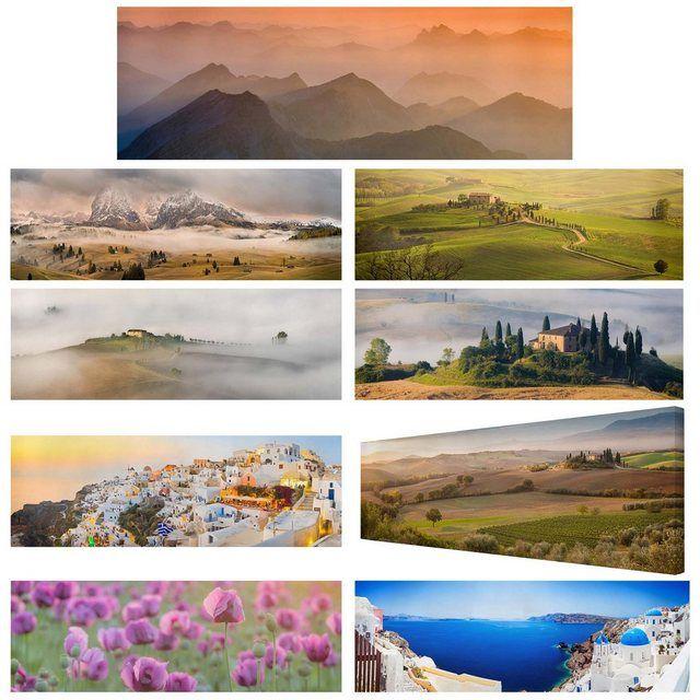 Leinwandbild Panorama »Top Mediterane Natur auf Leinwand«