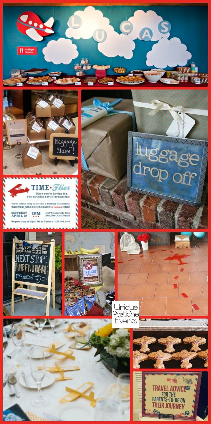 Precious Cargo - Vintage Airplane Baby Shower Party
