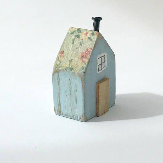 Holz Ornament Haus Holz Geschenk