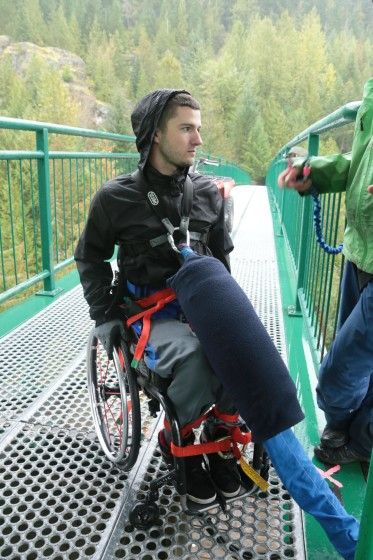 Paraplegic Riley Martin Prepares for His Bungee Jump