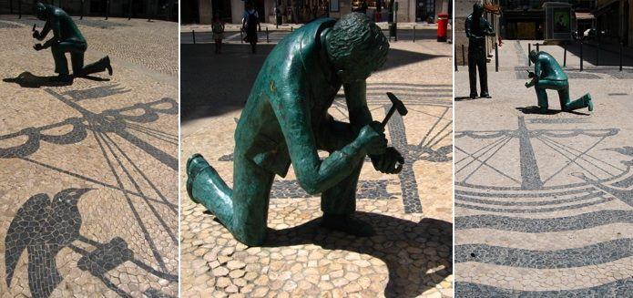 Divagar sobre tudo um pouco: Com os olhos na CALÇADA PORTUGUESA.   Homenagem ao Calceteiro e a sua arte.
