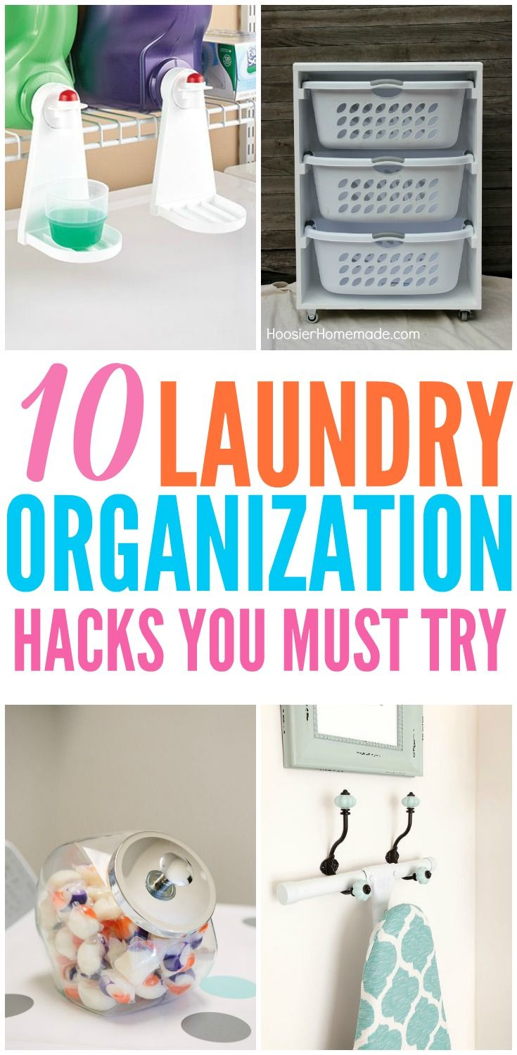 Laundry room hacks to help you organize your laundry and transform your laundry room into a space you actually want to be in.