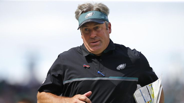 Head coach Doug Pederson of the Philadelphia Eagles walks off the field at the end of the first half against the Cleveland Browns at Lincoln Financial Field on September 11, 2016 in Philadelphia, Pennsylvania.