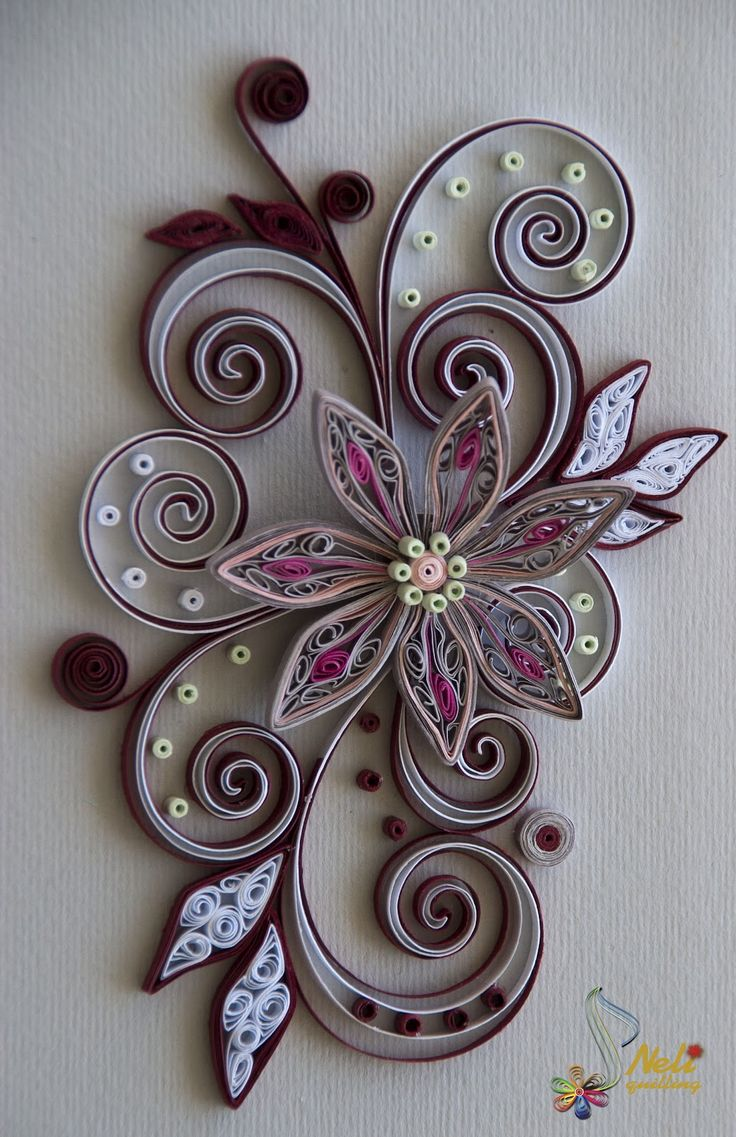 neli: Quilling cards - flower