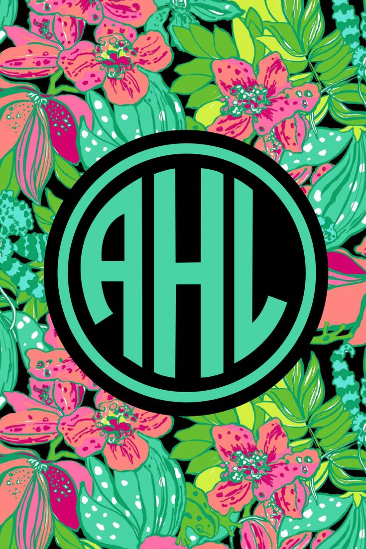 Lilly Pulitzer monogram iPhone wallpaper! Choose from lots of patterns and fonts at http://www ...