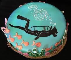 Scuba cake idea