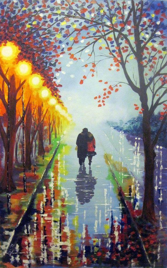 Original Abstract Original Painting Walk in by ArtonlineGallery