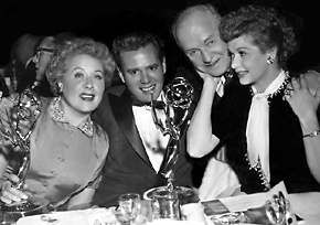 """""""I Love Lucy"""" cast: Vivian Vance, Desi Arnaz, William Frawley and Lucille Ball"""