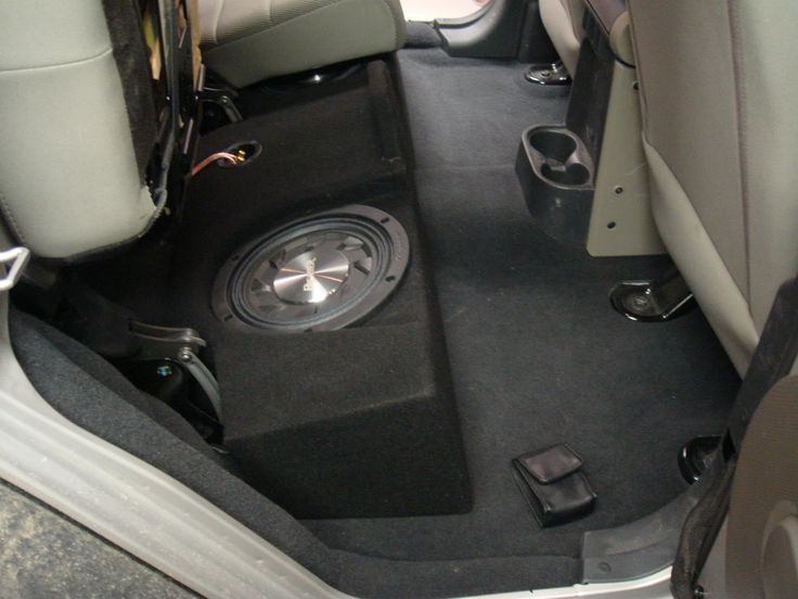 jeep wrangler 4 door subwoofer enclosure - Google Search