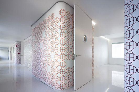 Centro #Maktub, la nueva área de trasplante de médula ósea del #Hospital Niño Jesús de #Madrid. #Diseño de #ElisaValero