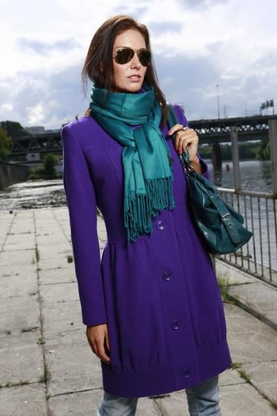 Купить фиолетовое пальто