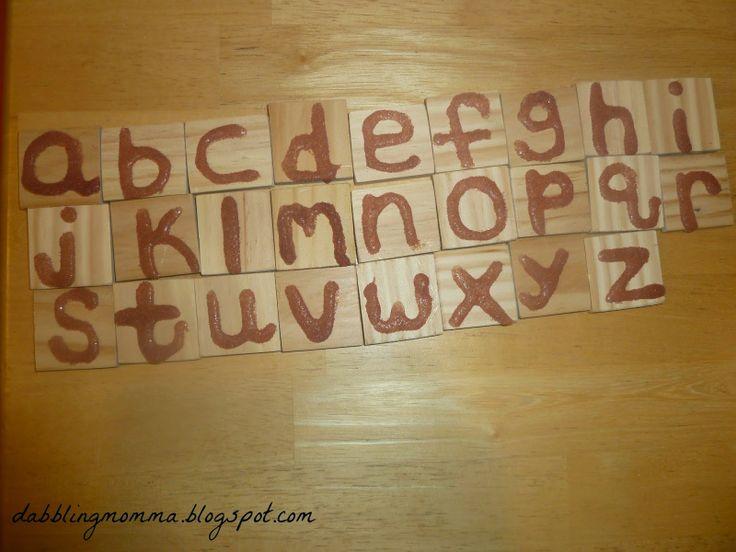 DIY Montessori-Inspired sensory letters   Dabbling Momma