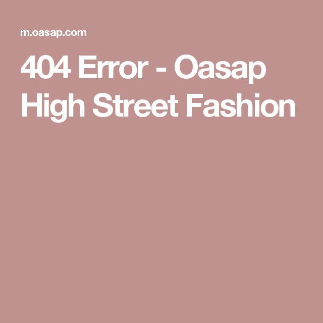 404 Error - Oasap High Street Fashion