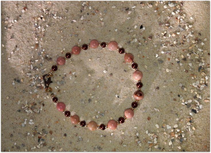 Perlenarmbänder - Armband Rhodonit - ein Designerstück von Stephelia bei DaWanda